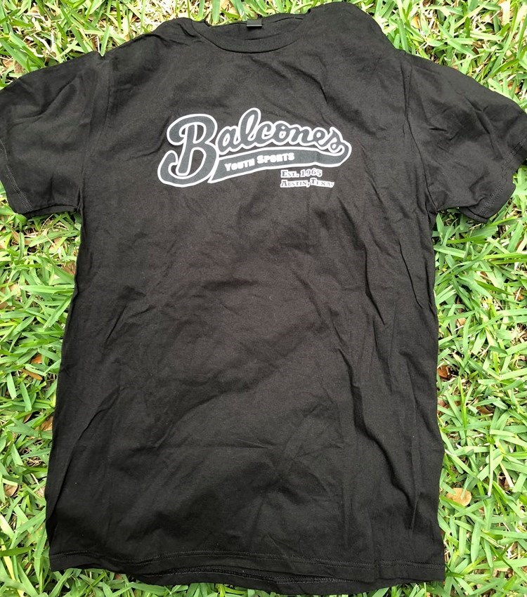 Balcones Youth Sports T-shirt - Black